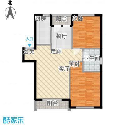 朝阳新苑朝阳新苑两室两厅一卫96.31户型图户型2室2厅1卫