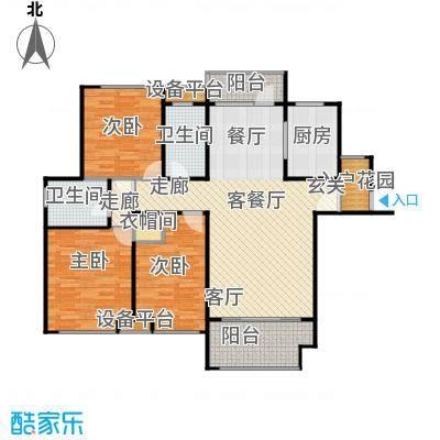 唐正・四季花园133.88㎡D2户型3室2厅2卫