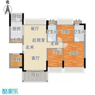 万好美域119.68㎡4栋02户型3室2厅2卫QQ