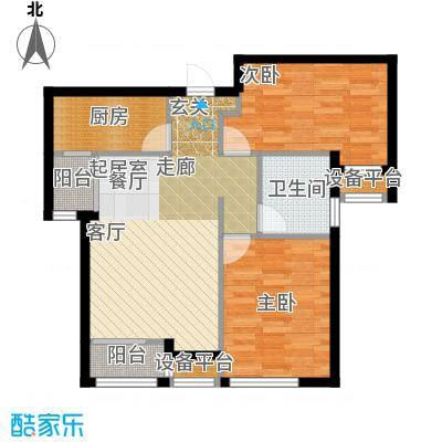 天津诺德中心90.00㎡D2户型2室2厅1卫