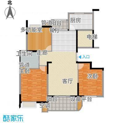 水岸帝景119.00㎡经典雅致三房户型3室2厅1卫