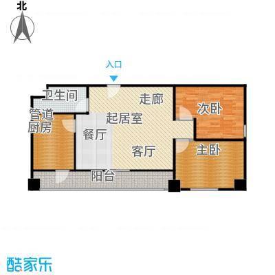 东方郁金香101.36㎡C-06户型二居户型