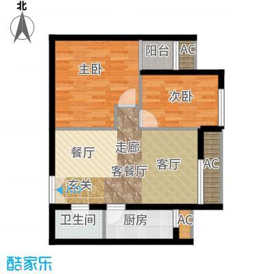 东亚望京中心A2c户型二居户型