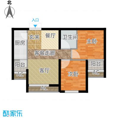 东亚望京中心A2d户型二居户型