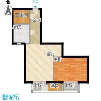 国际E庄65.00㎡A户型一室一厅一卫户型