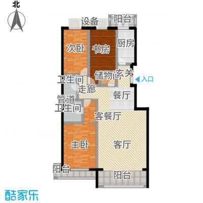 未来城・益宸嘉苑141.29㎡三室二厅二卫户型