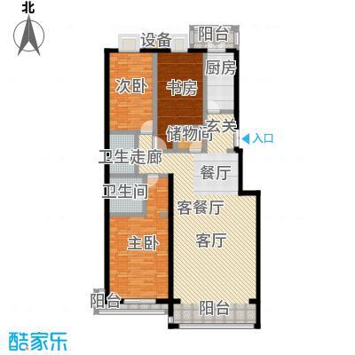 未来城・益宸嘉苑146.69㎡三室二厅二卫户型