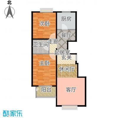 天伦锦城90.02㎡二期1号楼4单元2-10层02户型