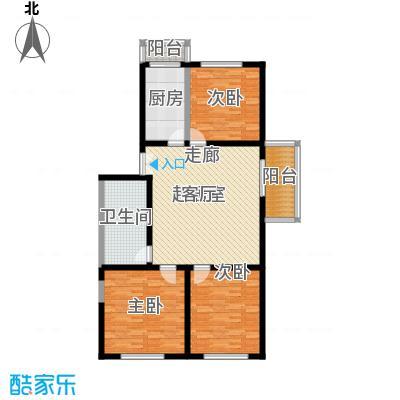 丰卉家园115.00㎡3室1厅1卫1厨户型