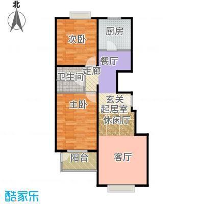 天伦锦城90.02㎡二期1号楼2单元1-10层02户型