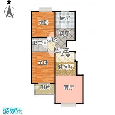 天伦锦城90.02㎡二期1号楼5单元1-10层02户型