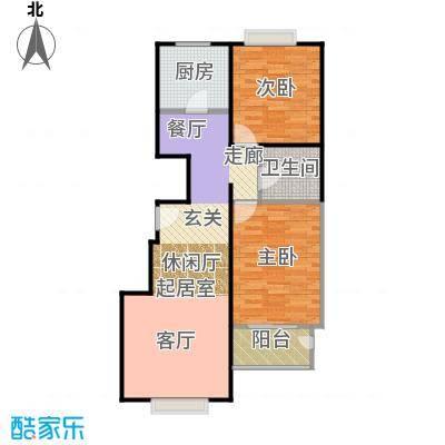 天伦锦城90.02㎡二期1号楼6单元1-10层01户型