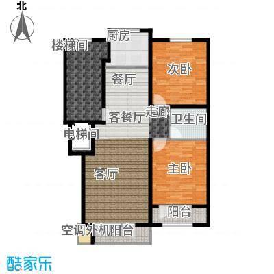 泊逸台两室两厅一卫91-99平户型