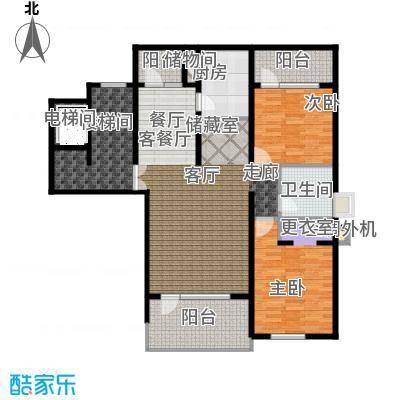 泊逸台泊逸台面积102-106平米(下跃)两室两厅一卫户型图户型2室2厅1卫