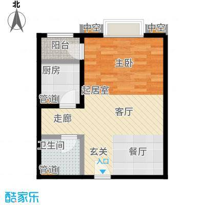 珠江骏景56.28㎡7号楼5户型一居户型