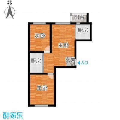 九新雾凇水岸九新雾凇水岸g4户型图2室2厅1卫80.20㎡户型2室2厅1卫