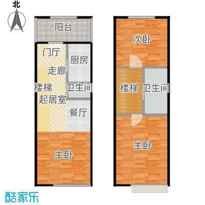 红庭户型图二室二厅二卫户型
