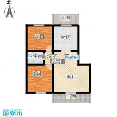 天地新城88.35㎡二室二厅一卫户型