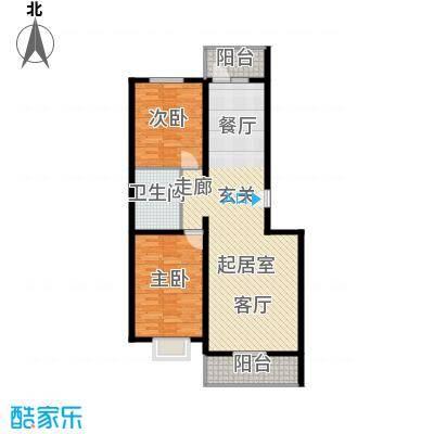 天地新城92.50㎡两室两厅一卫户型