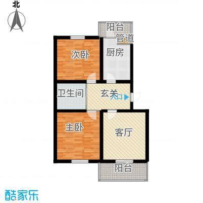 天地新城89.12㎡二室二厅一卫户型