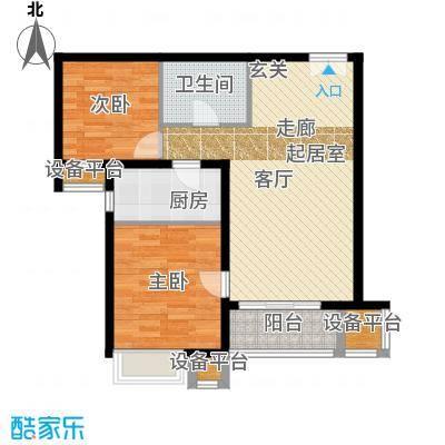 燕京航城91.00㎡3期28号楼31号楼g2反两室两厅一卫户型