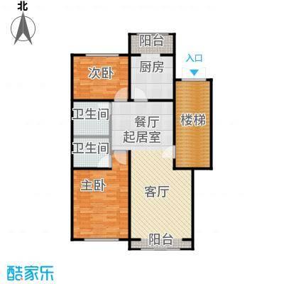 蓝调沙龙98.37㎡2室2厅2卫1厨户型