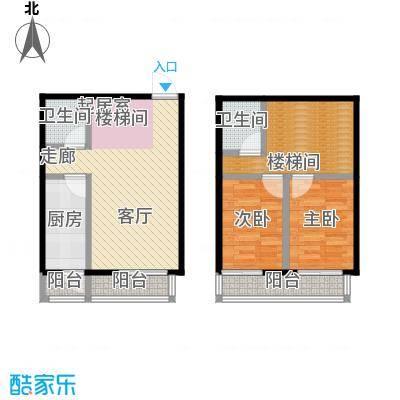 矩阵・天悦90.71㎡19号楼3单元两室户型