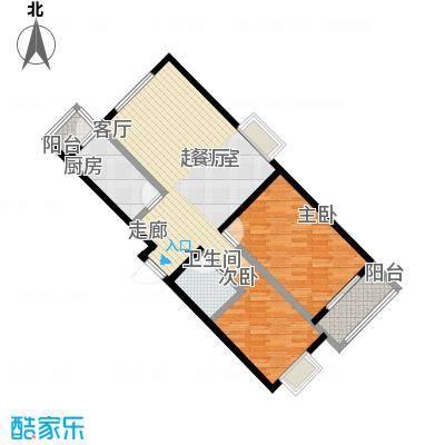 矩阵・天悦89.46㎡18号楼B反户型两室户型