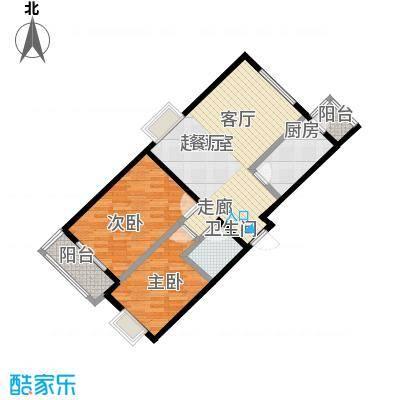 矩阵・天悦89.46㎡18号楼B户型两室户型