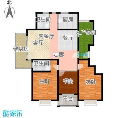 晟地润园D1户型3室1厅2卫1厨