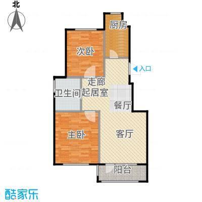 百合花园72.00㎡F2户型2室2厅1卫
