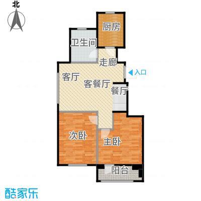 百合花园74.00㎡D户型2室2厅1卫