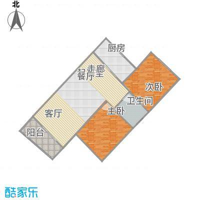 中州国际酒店B1户型2室1卫1厨