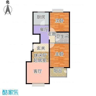 天伦锦城90.02㎡二期1号楼5单元1-10层01户型