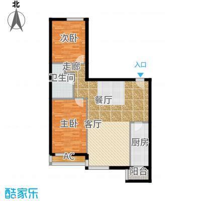 半岛公寓8-3Q二居户型