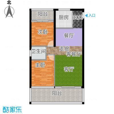 中和龙沐湾・海润源B3户型2室1厅1卫1厨