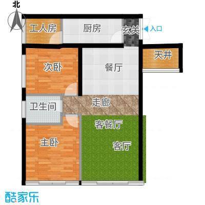 中和龙沐湾・海润源B1户型2室1厅1卫1厨