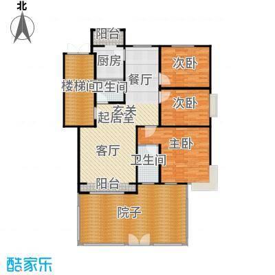 蓝调沙龙130.21㎡3室2厅2卫1厨户型