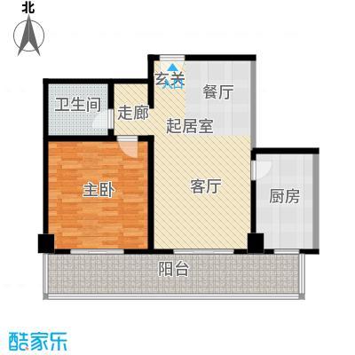 世纪东方城(远景)90.79㎡1室1厅1卫1厨户型