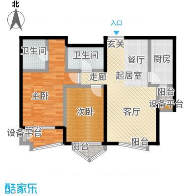 世纪东方城(远景)1#楼丙2单元F户型