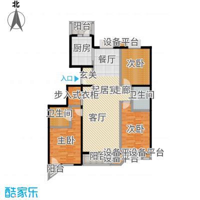 世纪东方城(远景)3#楼甲1、甲2单元A1户型