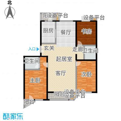 世纪东方城(远景)148.47㎡3室户型