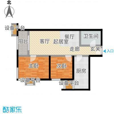 梵谷水郡(ZAMA三期)C区D两室两厅一卫户型