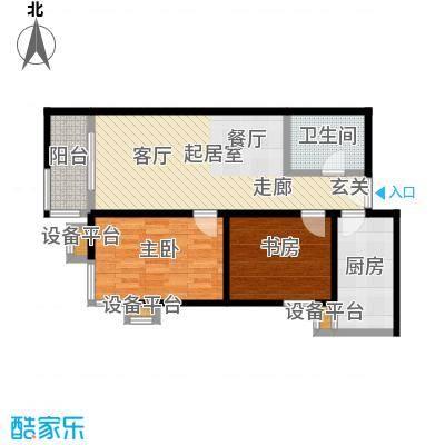 梵谷水郡(ZAMA三期)C区B两室两厅一卫户型