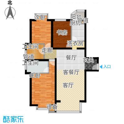 光大名筑136.00㎡三室二厅二卫户型