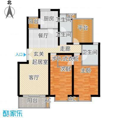 北京青年城111.27㎡两室两厅两卫户型