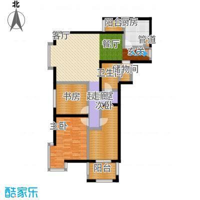 京东丽景苑110.24㎡3室2厅1卫户型