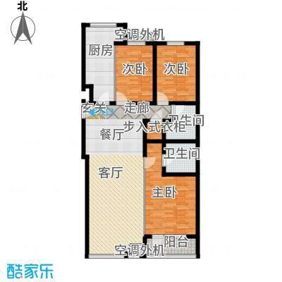 金港国际公寓(三期)117.31㎡华丽三居户型