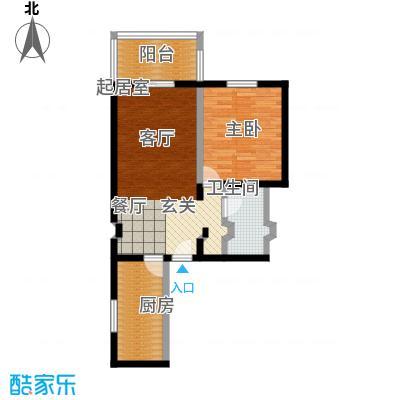 京东丽景苑62.10㎡反户1室1厅1卫户型