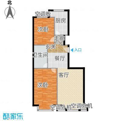 金港国际公寓(三期)112.61㎡二室一厅户型
